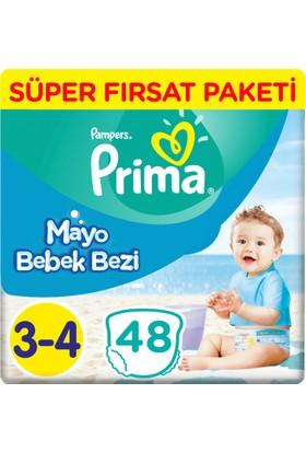 Prima Mayo Bebek Bezi 3 Beden Midi Fırsat Paketi 48 Adet
