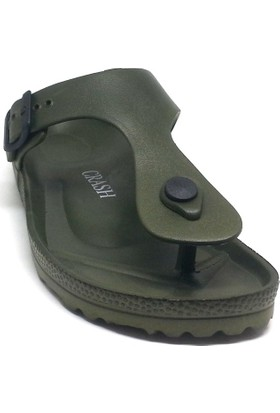 Shop And Shoes 066-3601 Bayan Terlik Haki