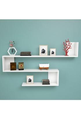 Yurudesign Shelf R10 Modern Duvar Rafı Kitaplık