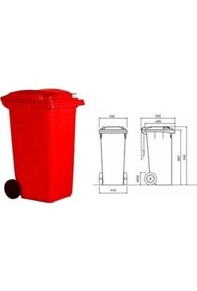 Çöp Konteyneri 120 lt Tekerlekli A+ Kalite Isıya Karşı Dayanıklı - Turuncu Çöp Kovası