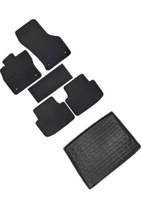 Fit 4 Car Honda Civic Sd 2016 Yüksek Kenar Kauçuk Paspas & Bagaj Havuzu Seti - Siyah