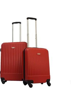Karst Parigi Orta Ve Kabin Boy Valiz Seti Kırmızı 1KR010502