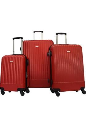 Karst Parigi Üçlü Valiz Seti Kırmızı 1KR010502