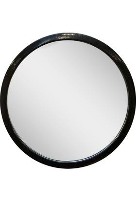 Altıncı Cadde Metal Siyah Ayna 39 Cm