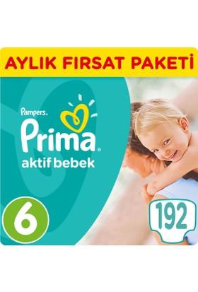 Prima Fırsat Paketi 6 Numara Extra Large 13 - 18 Kg 192 Adet