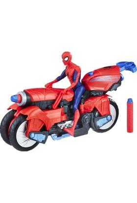 Spider-Man Figür ve Örümcek Motosiklet