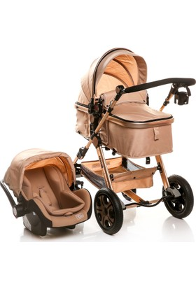 Baby&Plus Canyon Travel Sistem V2 Bebek Arabası Puset Bronze Brown