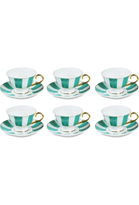 Pierre Cardin Mary Green 6Lı Kahve Fincan Seti