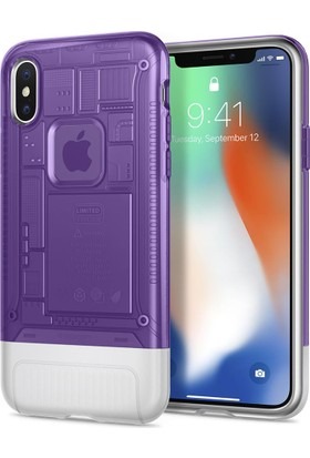 Spigen Apple iPhone X Kılıf Classic C1 (10.Yıl Özel) Grape - 057CS24431