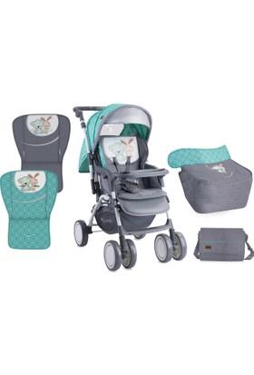 Lorelli Combi Çift Yönlü Bebek Arabası Green & Grey Friends