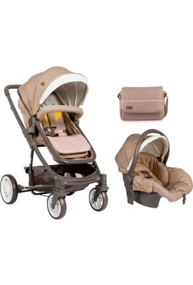 Lorelli S 500 Travel Sistem Bebek Arabası Beige Yellow Happy Family
