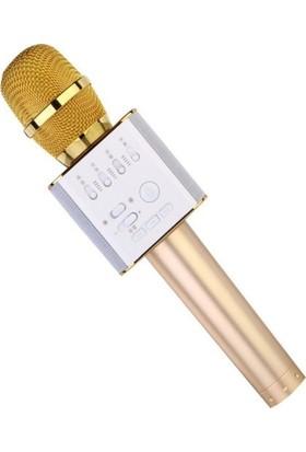 Buffer Sihirli Karaoke Bluetooth Hoparlörlü Mikrofon Q9