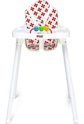 Şimşek Mama Sandalyesi - Minderli Ekonomik Yüksek Ayaklı Sandalye
