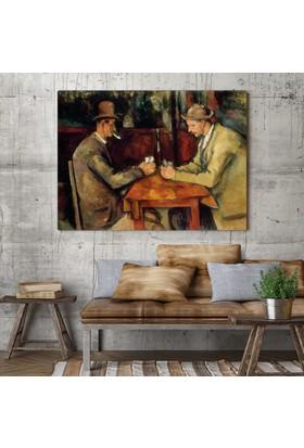 Paul Cezanne Kart Oyuncuları Kanvas Tablo 60 x 45 cm