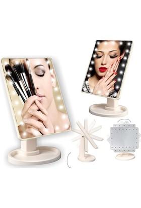 Buffer 22 Ledli 360 Derece Dönebilen Makyaj Aynası