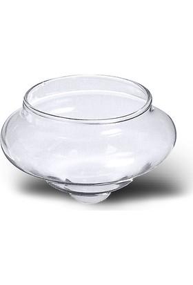 Horizon Mum Cam Tealight'lık Yüzen Mum Kabı – Şeffaf (3408)
