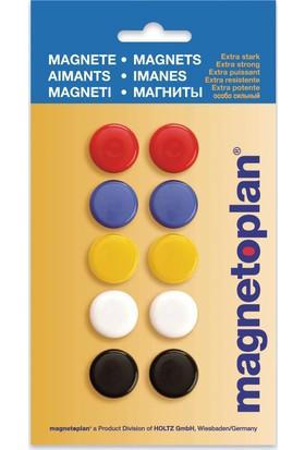 Magnetoplan Renkli Mıknatıs 20 mm - 10 Adet