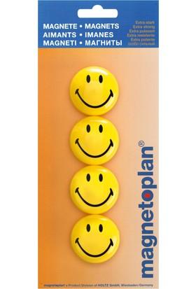 Magnetoplan Smiley Mıknatıs 40 mm - 4 Adet