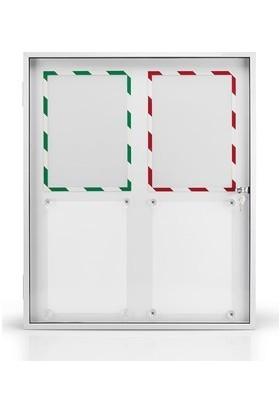 Magnetoplan Kapaklı Duyuru Panosu 61 x 73 cm ( 4 x A4 )