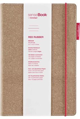 Transotype SenseBook Red Rubber A5 - Çizgili