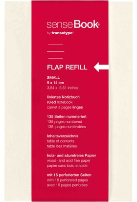 Transotype Sensebook Flap A6 Defter Yedeği - Çizgili