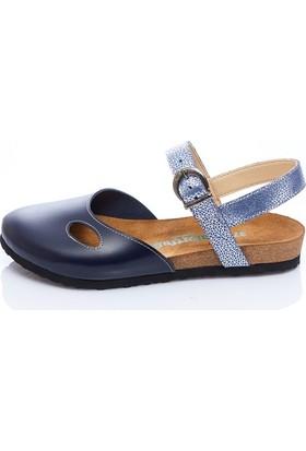 Comfortfüsse Berıt Lacivert Kadın Sandalet