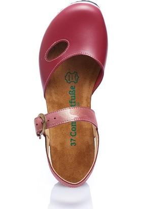 Comfortfüsse Berıt Bordo Kadın Sandalet