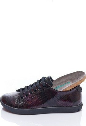 Comfortfüsse Klara Bordo Yılan Kadın Sneaker