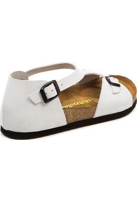Comfortfüsse Lorah Beyaz Kadın Sandalet