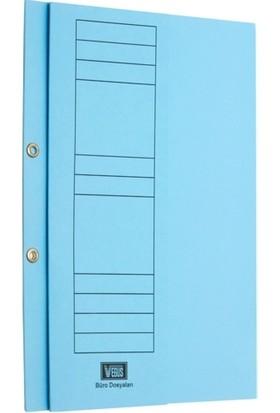 Ucc Büro Dosya Yarım Kapak Mavi