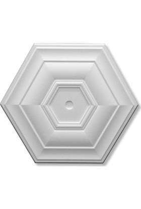 Decosa Tavan Lamba Göbeği Küçük Altıgen 40 cm