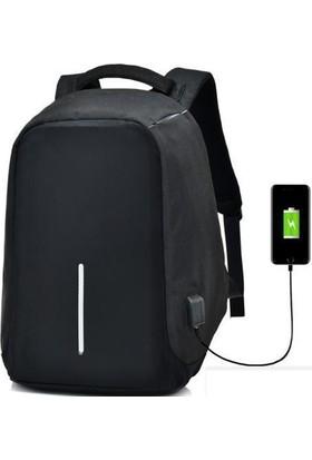 Thepack USB Portlu Powerbank'li Gizli Fermuarlı Laptop Çantası
