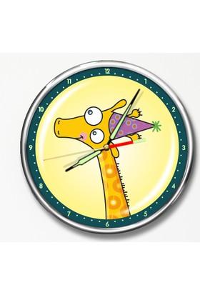 Dekor Loft Premium Gece Parlayan Çocuk Odası Duvar Saati FS-1505