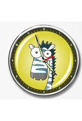 Dekor Loft Premium Gece Parlayan Çocuk Odası Duvar Saati FS-1506