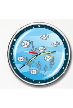 Dekor Loft Premium Gece Parlayan Çocuk Odası Duvar Saati FS-1511