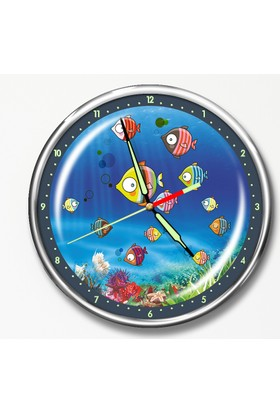Dekor Loft Premium Gece Parlayan Çocuk Odası Duvar Saati FS-1514