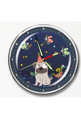 Dekor Loft Premium Gece Parlayan Çocuk Odası Duvar Saati FS-1521