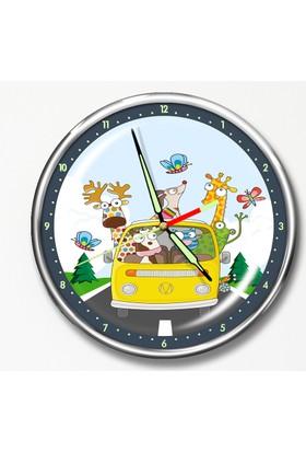 Dekor Loft Premium Gece Parlayan Çocuk Odası Duvar Saati FS-1527