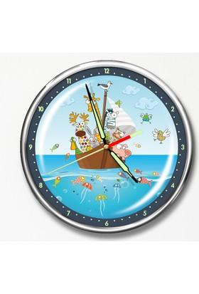 Dekor Loft Premium Gece Parlayan Çocuk Odası Duvar Saati FS-1529