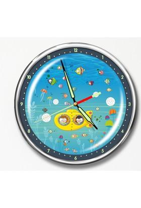 Dekor Loft Premium Gece Parlayan Çocuk Odası Duvar Saati FS-1530