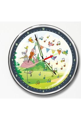 Dekor Loft Premium Gece Parlayan Çocuk Odası Duvar Saati FS-1557