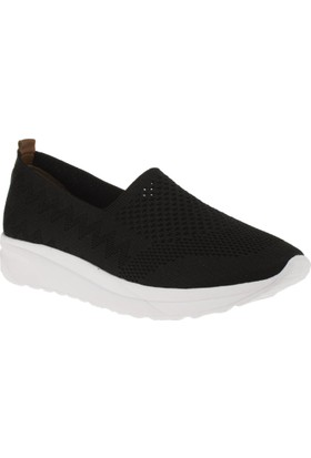 Estile 101-T2 Tekstil Günlük Siyah Kadın Ayakkabı