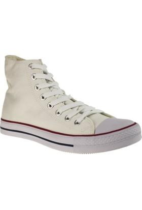 Ganzi 8101 Kanvas Beyaz Unisex Spor Ayakkabı
