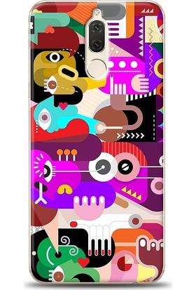 Eiroo Huawei Mate 10 Lite Modern Art Desen Kılıf