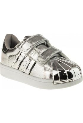 Flubber 22261 Patik Gümüş Çocuk Spor Ayakkabı