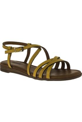 Greyder 51305 Düz Sarı Kadın Sandalet