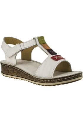 Consuelo 1341 Tek Bant Beyaz Kadın Sandalet