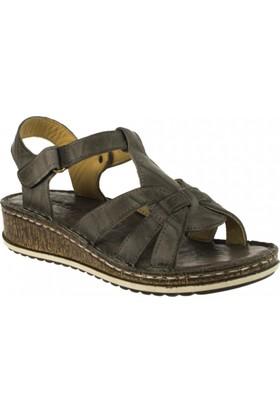 Consuelo 1370 Tek Bant Gri Kadın Sandalet