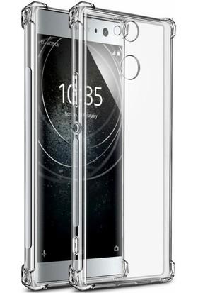 Case 4U Sony Xperia XA2 Kılıf Darbeye Dayanıklı Sert Silikon Kılıf - Anti Shock - Şeffaf