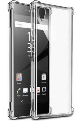 Case 4U Sony Xperia XA1 Plus Kılıf Darbeye Dayanıklı Sert Silikon Kılıf - Anti Shock - Şeffaf